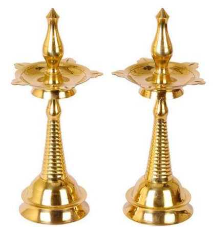 Brass Kerala Deepam Pair 30 cm  - Expressluv.in
