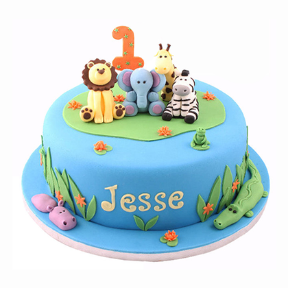 Zoo design Cake  - Expressluv.in