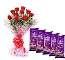 Chocs and Red Roses Bunch  - Expressluv.in