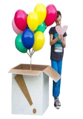 surprise balloon box delivery, online balloon delivery, 50 Helium Balloons delivery