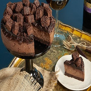 tasty yummy delicious Brownie Cheesecake with full of chocolaty delight   - Expressluv.in