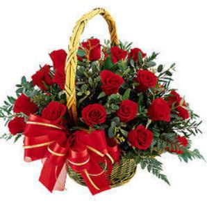 send red roses online, Red Roses Basket 40 Roses  - Expressluv.in