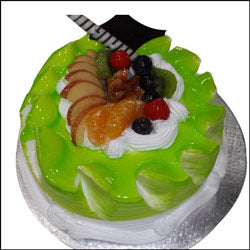 Green Jelly Fruits Cake  - Expressluv.in