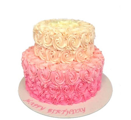 Roses Step Cake for Wedding  - Expressluv.in