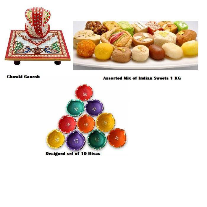 Assorted Sweets with Diwali Pack
