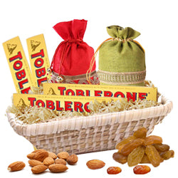 Dry Fruit Pack with Toblerone  - Expressluv.in