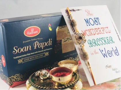 Soan Papdi with Jewel Rakhi USA - USA