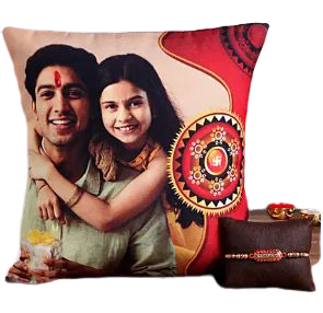 send personalized pillow with image and rkhi set for brother online delivery