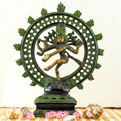 Natraj Brass Statue 8Inch - FOR AUSTRALIA
