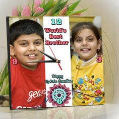 Rakhi Brother Sister Wall Clock