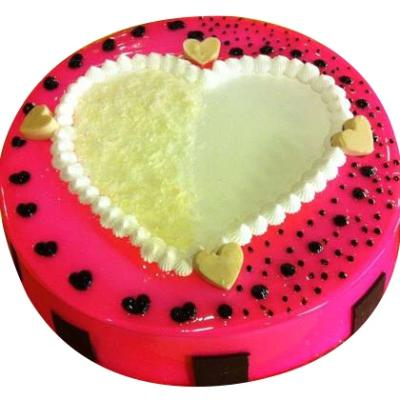 Vanilla Heart Special Cake  - Expressluv.in