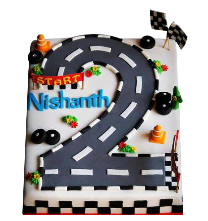 Road Design Custom Cake  - Expressluv.in