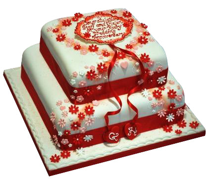 Step Cake for Anniversary  - Expressluv.in