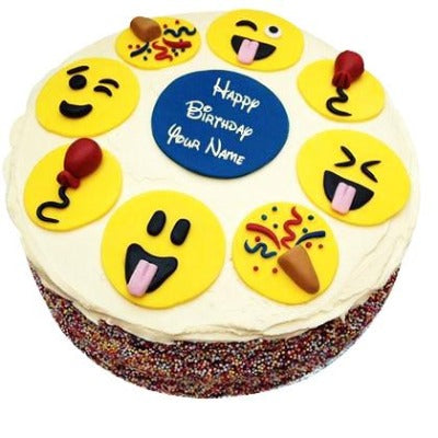 Smileys Cake, emoji theme cake, whatsapp emoji cake  - Expressluv.in