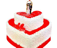 Just Wedded romantic couple step cake - Expressluv.in