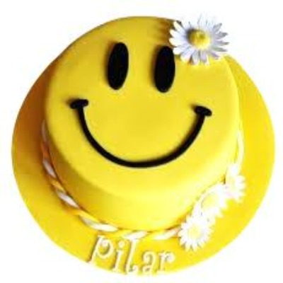 Simple Class Birthday Cake, smiley emoji cake, smiley face cake  - Expressluv.in