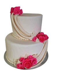 2 Step Wedding Cake