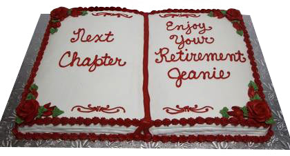 Retirement Cake Notebook Design, order now online with Text enjoy your retirement  - Expressluv.in
