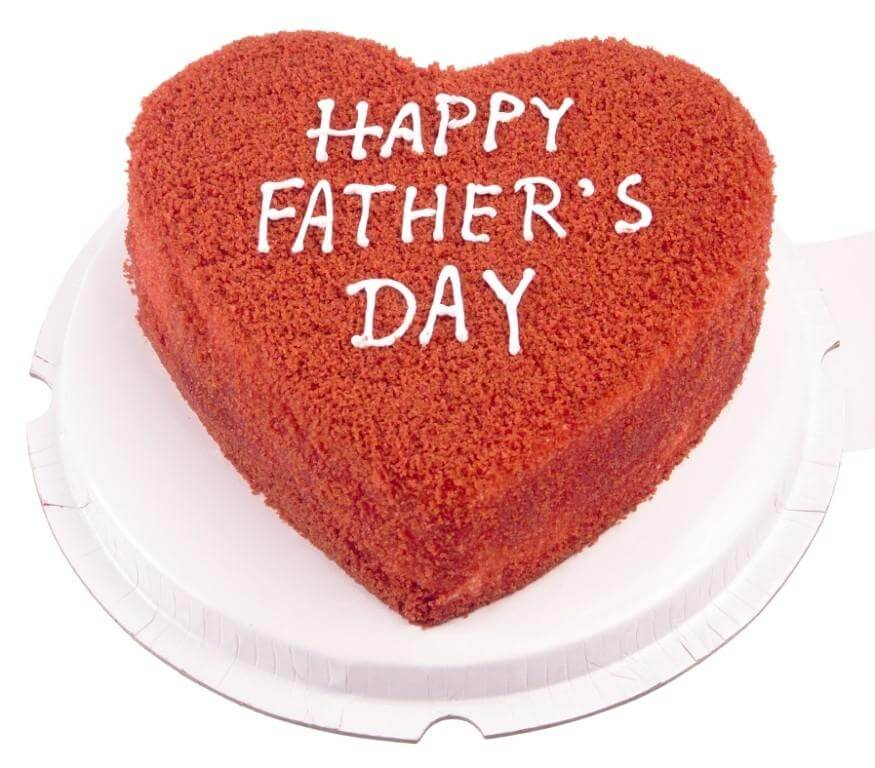 Father's Day Heart Shaped Cake