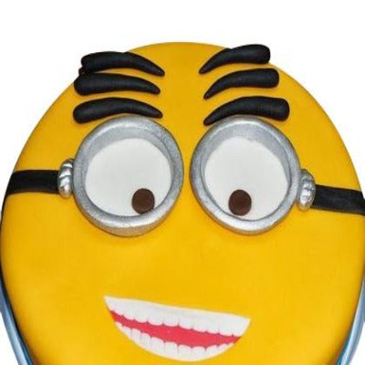 Flashed Face, minion theme cake, minion birthday cake   - Expressluv.in