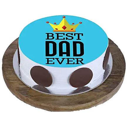 Best Dad Ever Photo Cake