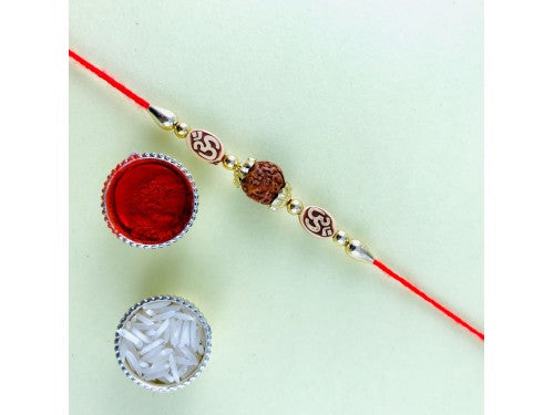Rudraksh Rakhi with OM - USA