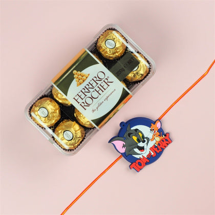 Tom & Jerry Rakhi with Ferrero Rocher