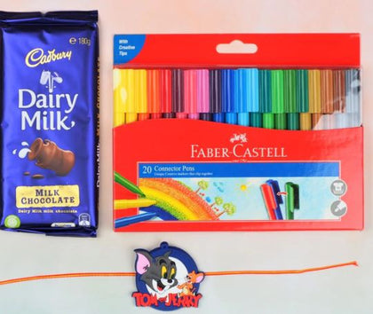 Tom & Jerry Rakhi with Colors and Chocolate - FOR AUSTRALIA