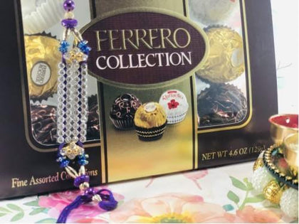 Designer Rakhi with Ferrero Rocher - USA