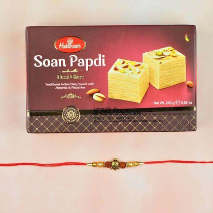 Lucky Turtle Rakhi With Soan Papdi