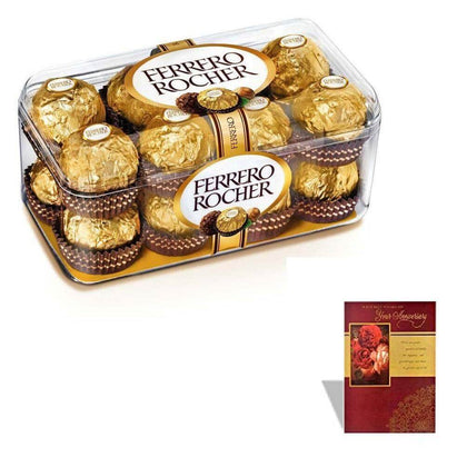 Ferrero Rocher 16 Pc with a gift card attachment