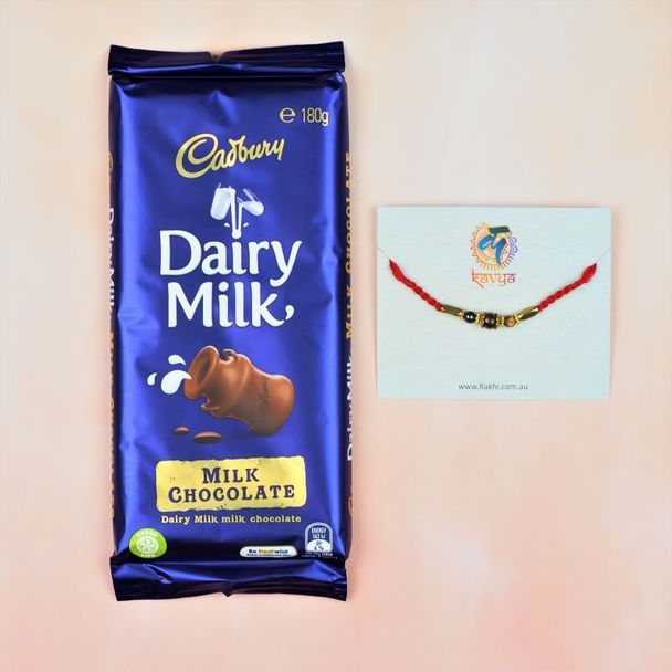 Tiger Stone Rakhi With Dairymilk Chocolate