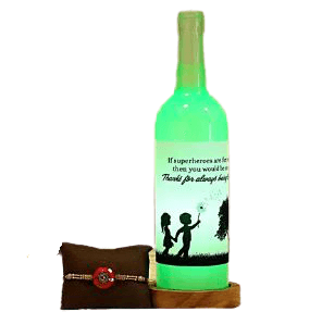 Personalized Bottle and Rakhi