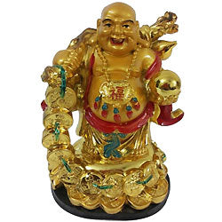 a beautiful Charming Laughing Budda to gift someone home decor and gifting item  - Expressluv.in
