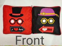 Couple Pillow I love Her Front