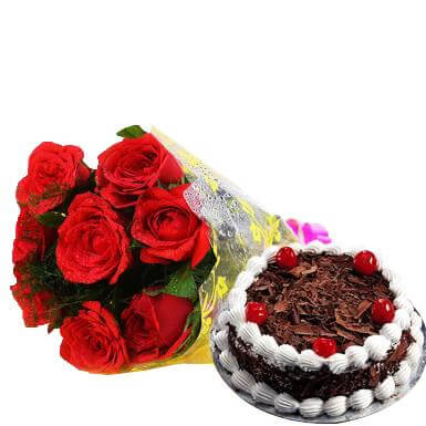 Eternal Delight Black Forest and Roses