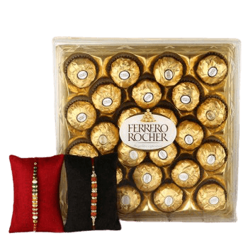 Ferrero Rocher 24pc and Rakhi Set of 2