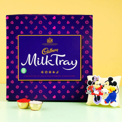 Mickey Cartoon Rakhi with Chocolate Box To UK