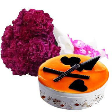 Carnations and Cake Love