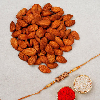 Brother Rakhi with Almond Nuts- UK