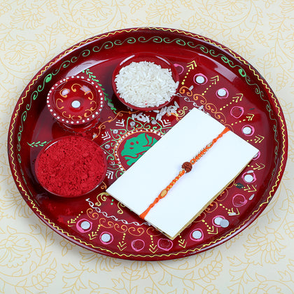 Rudraksha Rakhi with Puja Thali- UK