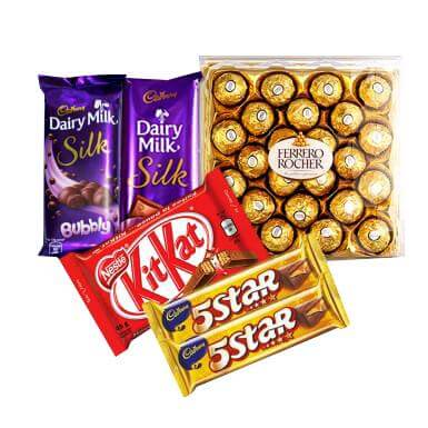 Chocolates from Heart - Delicious Chocolate Combo