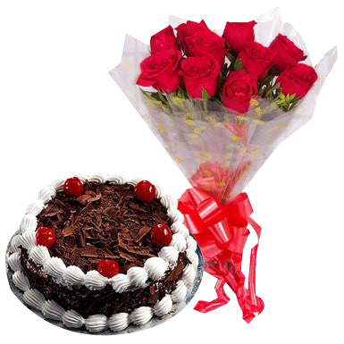 Roses and Black Forest  - Expressluv.in