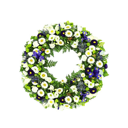Round Wreath Flowers for Condolence  - Expressluv.in