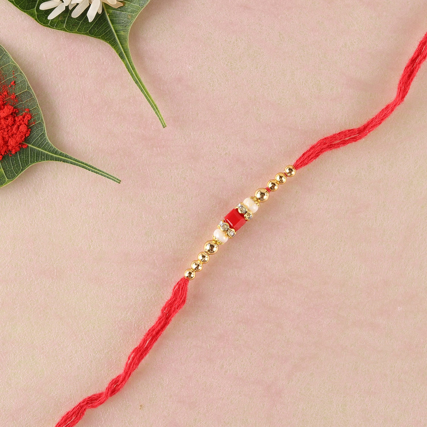 Sizzling Red Rakhi Thread  To Europe