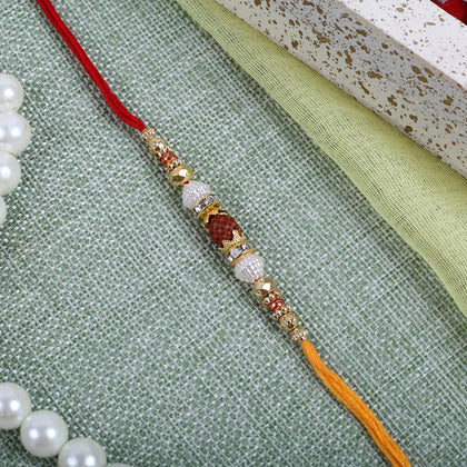 Rudraksha Traditional Rakhi Thread  To Europe