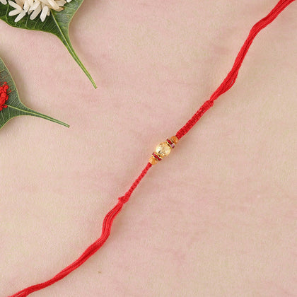 Unique Red Diamond Rakhi  To Europe