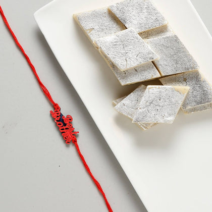Best Brother Rakhi with Kaju Katli Sweets To Europe
