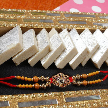 Ik Onkar Rakhi with Kaju Katli To Europe
