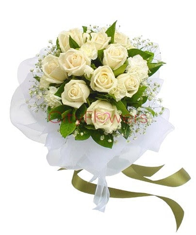 White Roses Bunch  - Expressluv.in